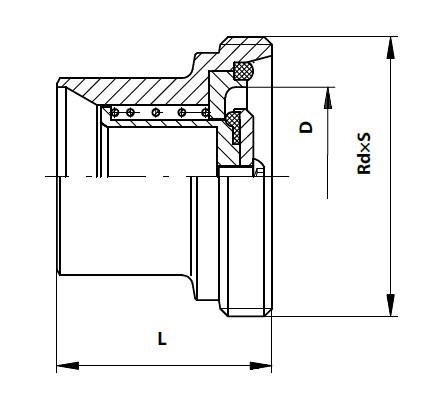Visszacsapó szelep, rövid beépítésű, hegeszthető / menetes, DIN, rozsdamentes, élelmiszeripari, standard