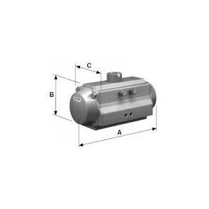 Pneumatikus munkahenger horizontális, levegő / levegő, élelmiszeripari, standard
