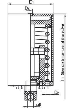 Pneumatikus munkahenger + kuplung, levegő / rúgó, rozsdamentes, élelmiszeripari, standard