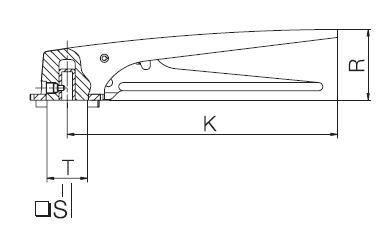 Pillangószelep kézi kar, 7 fokozatú, rövid karral, DIN / ISO, rozsdamentes, élelmiszeripari, prémium