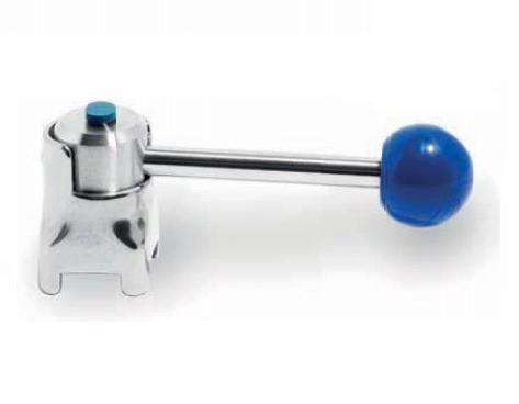 Pillangószelep kézi kar, pozíciójelzővel, DIN / ISO, rozsdamentes, élelmiszeripari, prémium
