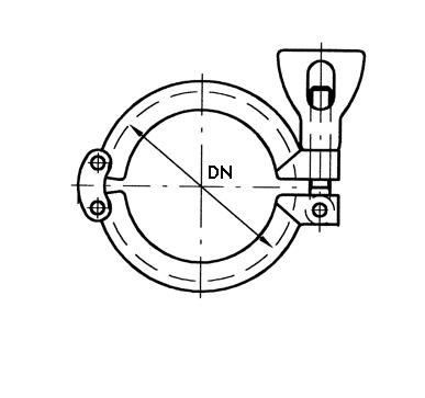 Clamp bilincs, 13MHHM, ISO 2852, rozsdamentes, élelmiszeripari