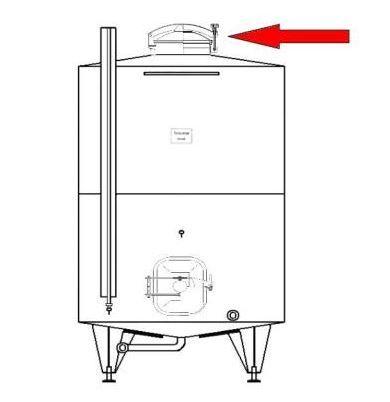 Búvónyílás felső kerek 306 mm kifelenyíló (245)