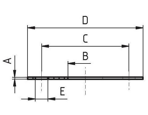 Karimatömítés, DIN 2573/PN10, élelmiszeripari, standard