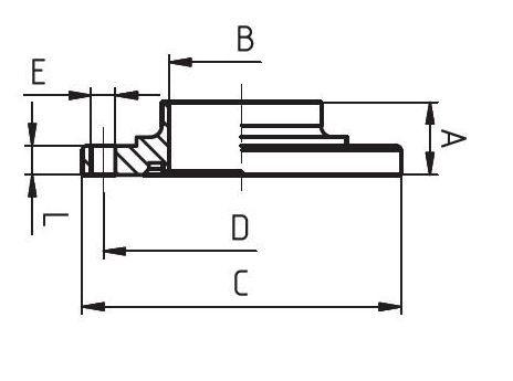 Hegtoldatos karima, núttal, DIN 11850/PN10, komplett, rozsdamentes, élelmiszeripari, standard