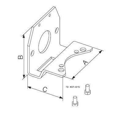 Konzol pneumatikus munkahengerhez, DN 25-100 / ISO 25-101,6, rozsdamentes, élelmiszeripari, prémium
