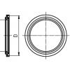 Clamp tömítés, DIN 32676, élelmiszeripari, PTFE