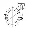 Clamp bilincs, 13MHHM, DIN 32676, rozsdamentes, élelmiszeripari