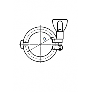 Clamp bilincs, 13MHHM, ISO 2037, rozsdamentes, élelmiszeripari