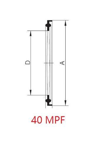 Clamp tömítés, BS 4825, élelmiszeripari, PTFE