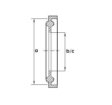 Clamp tömítés, DIN 32676, élelmiszeripari, Silicon
