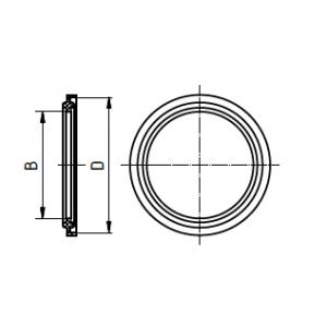Clamp tömítés, DIN 32676, élelmiszeripari, EPDM