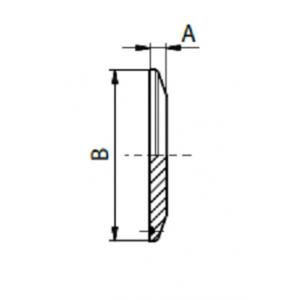 Clamp záróvég, DIN 32676, rozsdamentes, élelmiszeripari