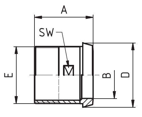 Kúposvég, külső gázmenet, DIN, rozsdamentes, élelmiszeripari, standard
