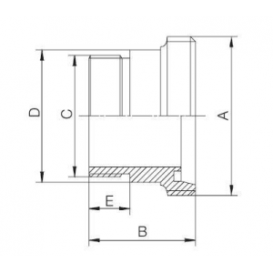 Menetesvég / belső gázmenet, DIN, rozsdamentes, élelmiszeripari, prémium