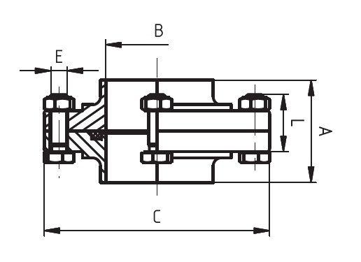 Hegtoldatos karima, DIN 11850/PN10, komplett, rozsdamentes, élelmiszeripari, standard