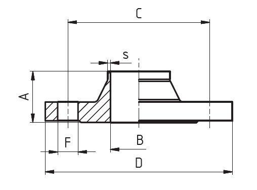 Hegtoldatos karima, DIN 2633/PN16, rozsdamentes, élelmiszeripari, standard