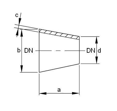 Szűkítő koncentrikus, DIN 11852, rozsdamentes, élelmiszeripari, AISI304L