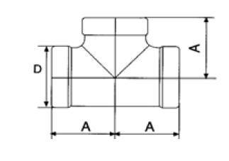 T-idom, belső gázmenet / belső gázmenet / belső gázmenet, rozsdamentes