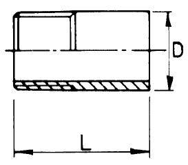 Menetes csővég, matt, AISI 316, rozsdamentes