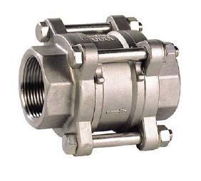 Visszacsapó szelep rúgótányéros, belső gázmenet / belső gázmenet, egyenes, rozsdamentes, ipari