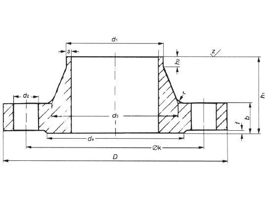 Hegtoldatos karima DIN 2634 PN25 DN350-1000, rozsdamentes, ipari