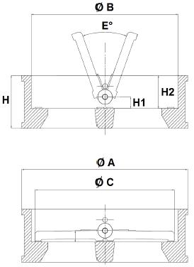 Visszacsapó szelep, dupla tányéros, ACS EPDM, szénacél, ipari