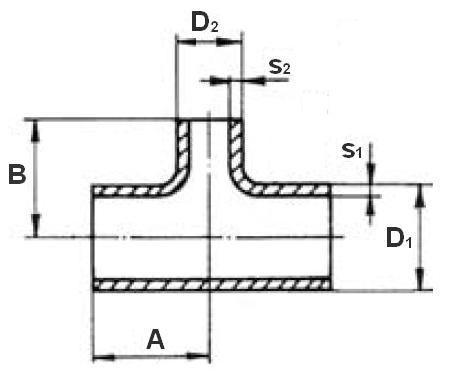 T-idom varratnélküli, szűkített EN 10253-3, rozsdamentes, ipari
