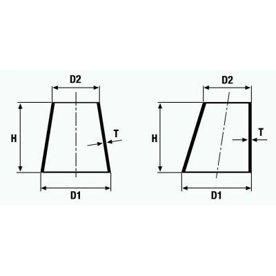 Szűkítő koncentrikus és excentrikus, varratos, metrikus, DN 15-125, rozsdamentes, ipari