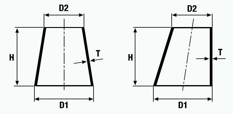 Szűkítő koncentrikus és excentrikus, varratos, metrikus, DN 150-900, rozsdamentes, ipari