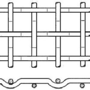 Hullámrács E formájú (Préselt háló)