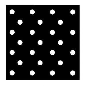 Perforált lemez, kerek szemekkel, átlós elrendezéssel, 45' 0,4-50,0 mm, rozsdamentes