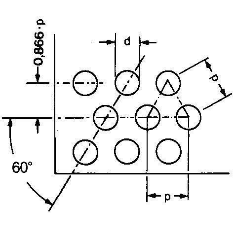 Perforált lemez, kerek szemekkel, átlós elrendezéssel, 60' 6,5-50,0 mm, rozsdamentes