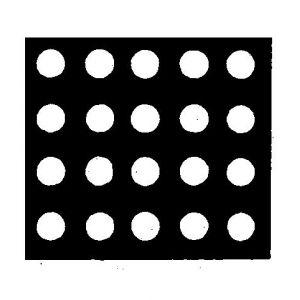 Perforált lemez, kerek szemekkel, átlós elrendezéssel, 90' 0,5-30,0 mm, rozsdamentes