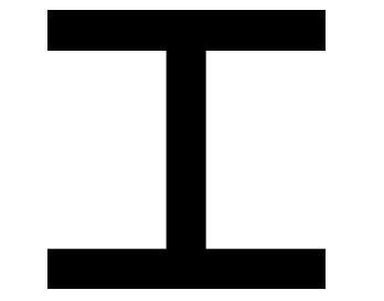 H-profil (HEA/IPBL) egyenlőtlen szárú, rozsdamentes