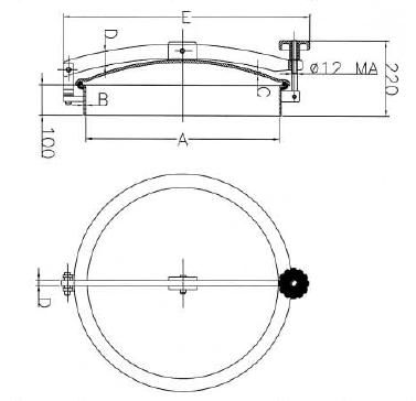 Búvónyílás cementkádra kerek 200 - 600 mm kifelenyíló (D8 C)