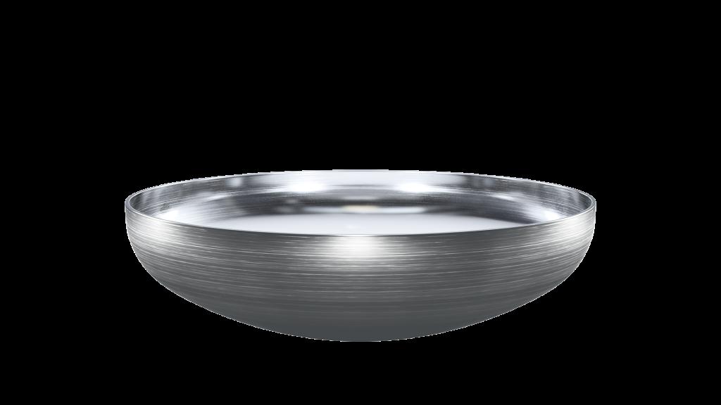 Tartályfenék, mélydomború, TE típus, DIN28013 (DE), rozsdamentes