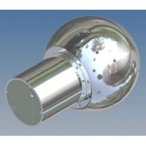 Mosógömb lapított vállú 180' FM - 40 mm fejátmérő, rozsdamentes, élelmiszeripari