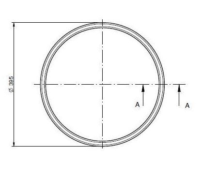 Búvónyílás alsó ovális 440x320 mm kifelenyíló (174/AE)