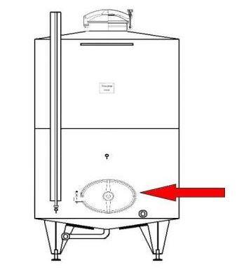Búvónyílás alsó ovális 490x395 mm befelenyíló (200)