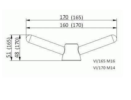 Búvónyílás alsó ovális 509x372 mm befelenyíló (200/RP)