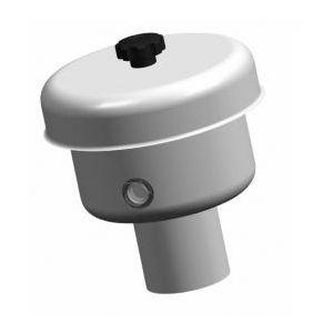 Rozsdamentes légző, folyadék zárású, D100, 1000 hl/h AISI 304 (A50)
