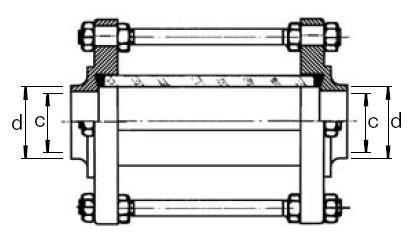 Átfolyásjelző (Aisi 304), hegeszthető / hegeszthető, DIN, rozsdamentes, élelmiszeripari