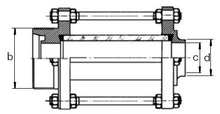 Átfolyásjelző (Aisi 304), menetes / hegeszthető, DIN, rozsdamentes, élelmiszeripari