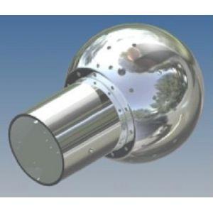 Mosógömb lapított vállú 180' FM - 120 mm fejátmérő, rozsdamentes, élelmiszeripari