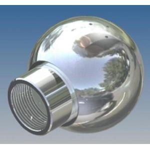 Mosógömb lapított vállú 180' LM - 90 mm fejátmérő, rozsdamentes, élelmiszeripari