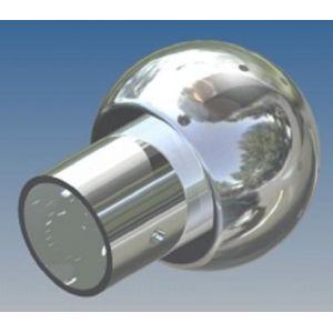 Mosógömb lapított vállú 180' OM - 120 mm fejátmérő, rozsdamentes, élelmiszeripari