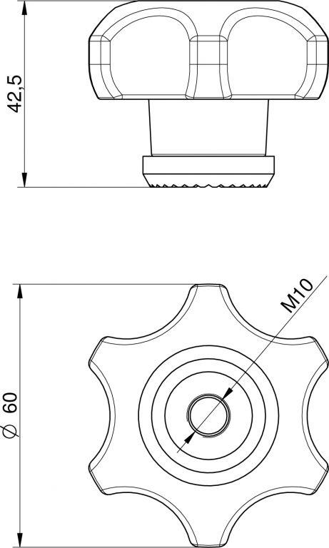 Búvónyílás felső kerek 404mm kifelényíló  (253)